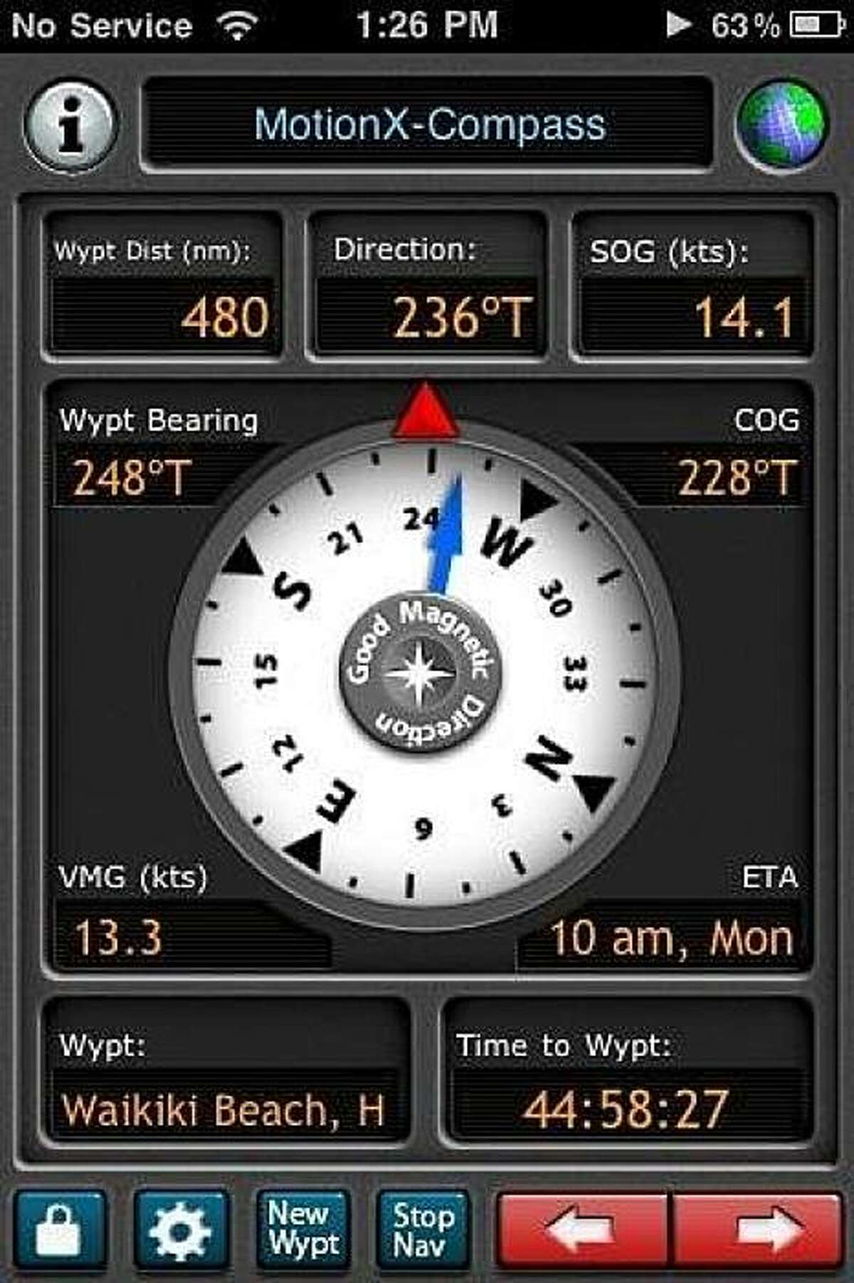 This app was used during the Transpac race to Hawaii earlier this year.