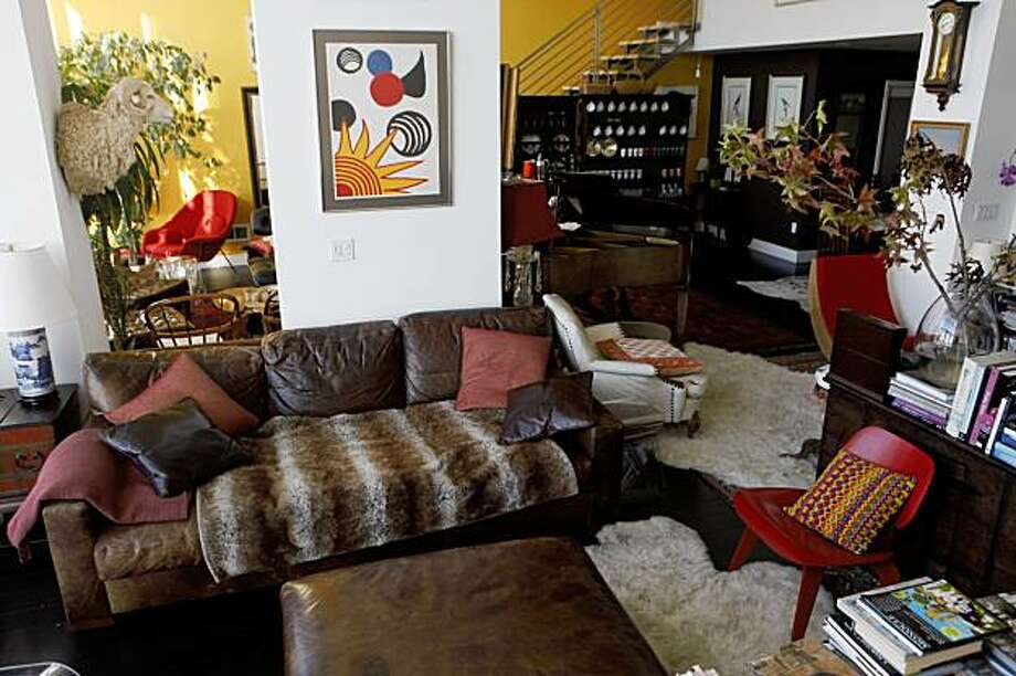 Eclectic chaos shapes the living space in the deluxe South Beach penthouse of Susan MacTavish Best on Friday Oct. 30, 2009 in San Francisco, Calif. Photo: Mike Kepka, The Chronicle