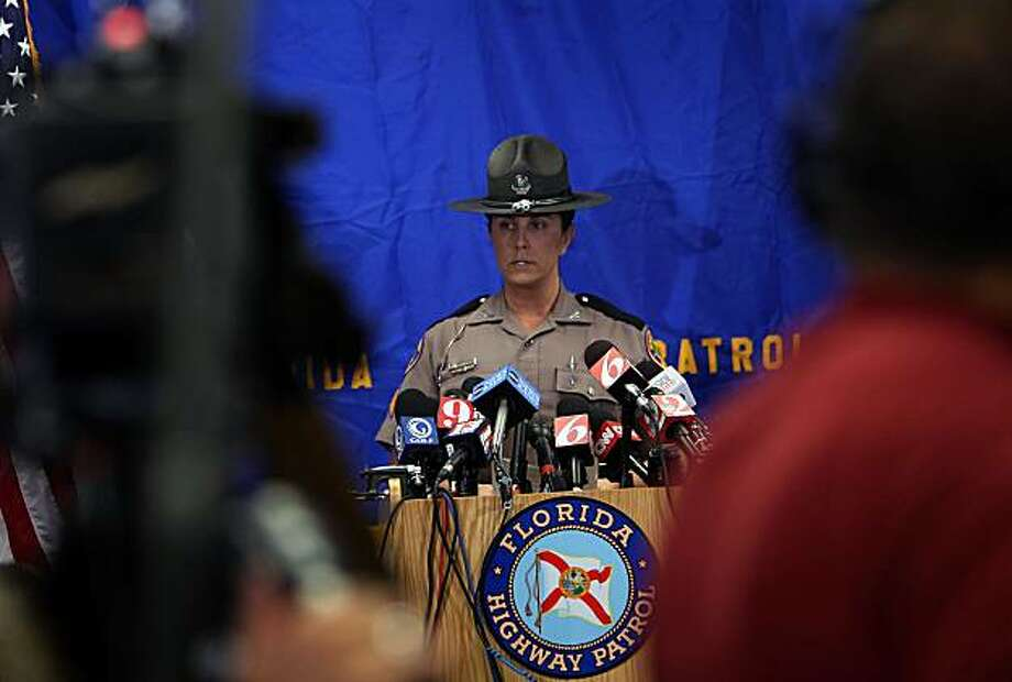 ORLANDO, FL - DECEMBER 01:  Florida Highway Patrol trooper sergeant Kim Montes speaks to the media about the Tiger Woods accident case on December 1, 2009 in Orlando, Florida. The Highway Patrol said Woods would be cited for careless driving and that it's investigation into the accident has been concluded. Tiger Woods has not spoken with media or Florida Highway Patrol since he drove his SUV into a fire hydrant and a tree at the entrance to his driveway at his Florida home in the early hours of November 27.  (Photo by Joe Raedle/Getty Images) Photo: Joe Raedle, Getty Images