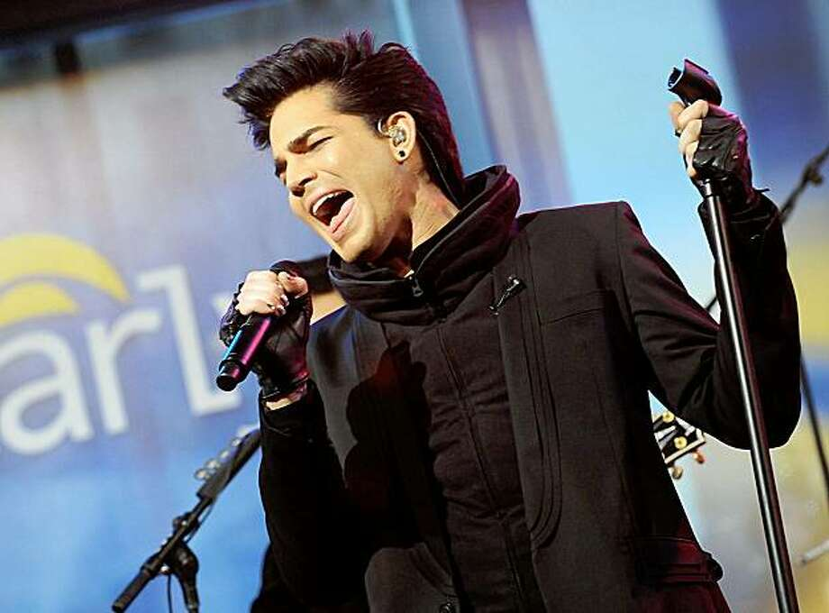 "In this publicity image released by CBS, singer Adam Lambert performs during an appearance on ""The Early Show,""  Wednesday, Nov. 25, 2009, in New York. (AP Photo/CBS, David M. Russell) Photo: David M. Russell, AP"