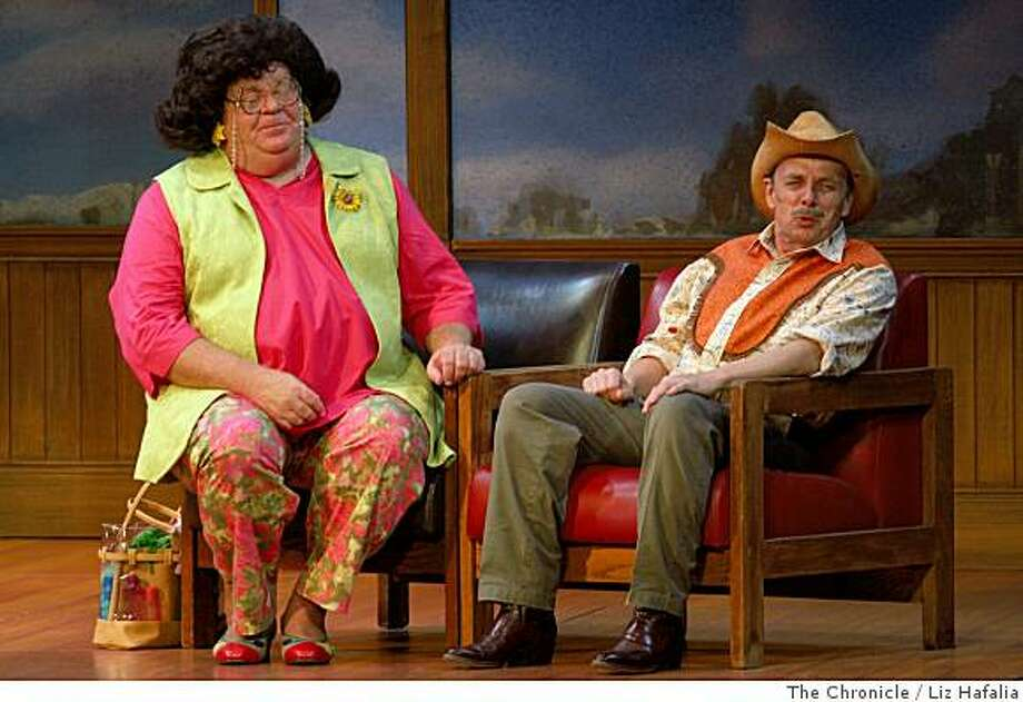 """Matinee performance of """"Tuna Does Vegas"""" at Curran Theatre, a special Best of Broadway event, starring Joe Sears (left) and Jaston Williams (right) in their latest Greater Tuna show in San Francisco, Calif., on Wednesday, June18, 2008.Photo by Liz Hafalia/The Chronicle Photo: Liz Hafalia, The Chronicle"""