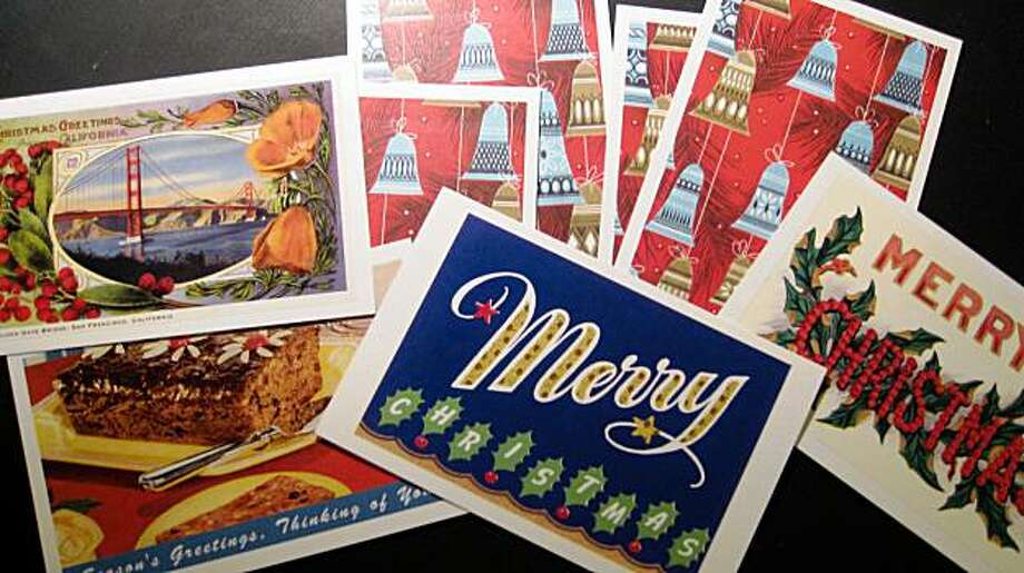 Vintage holiday cards. Photo: Chantal Lamers, Special To The Chronicle