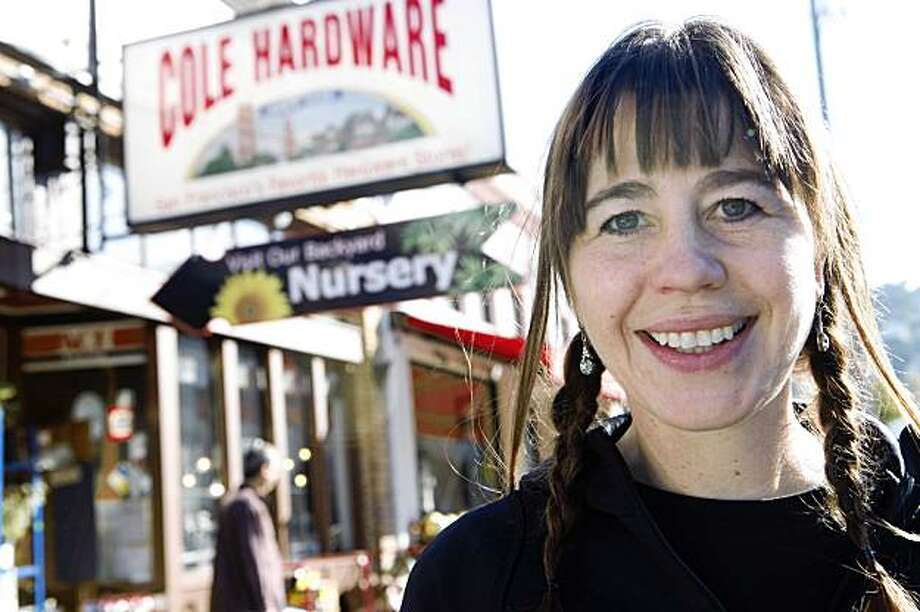 Noelle Nicks, Visual Merchandise Manager and curator of all things hardware at Cole Fox Hardware Stores, stands for outside the store on Cole Street on Monday Nov. 16, 2009 in San Francisco Calif. Photo: Mike Kepka, The Chronicle