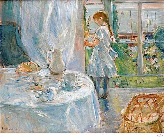 "Berthe Morisot's ""Cottage Interior,"" 1886.Oil on canvasMusee d'lxelles Photo: -"