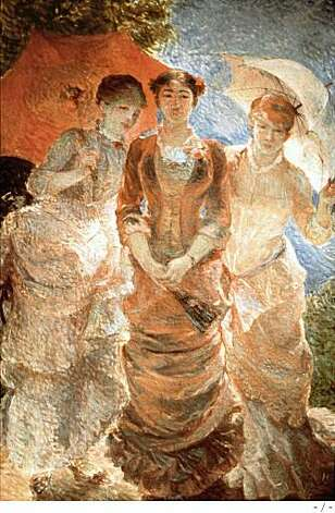 "Marie Bracquemond's ""The Three Graces of 1880,"" 1880Oil on canvas. Musee d'Orsay, Paris, on permanent loan in the Mairie de Chemille. Photo: -"
