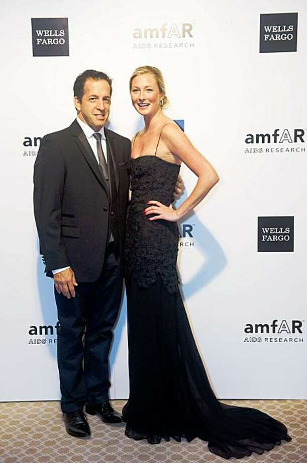 AmfAR Chairman Kenneth Cole and model Maggie Rizer contributed their personal stories at the amfAR Gala on Nov. 6 at the Four Seasons in San Francisco. The event raised $440,000 for AIDS research. Photo: Jessica Brandi Lifland, Drew Altizer