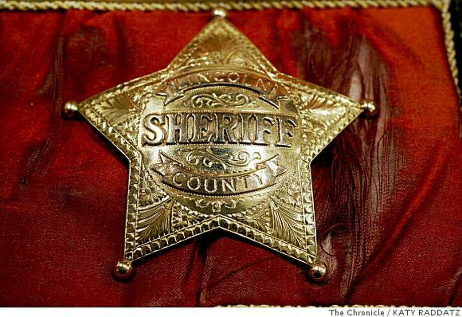 The badge presented to Pat Garrett to thank him for killing Billy the Kid, at the Greg Martin Auctions, in San Francisco, Calif.  on June 16, 2008.Photo by Katy Raddatz / The Chronicle Photo: KATY RADDATZ, The Chronicle