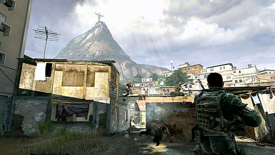 A favela in Rio de Janeiro is among the many diverse locales visited in service of a confusing plot in Call of Duty: Modern Warfare 2. Photo: Activision