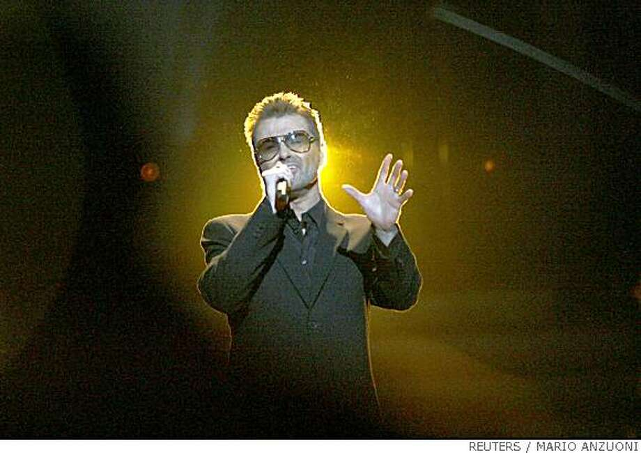 "George Michael performs during the finale of ""American Idol"" at the Nokia Theatre in Los Angeles May 21, 2008.  REUTERS/Mario Anzuoni  (UNITED STATES).  NO SALES. NO ARCHIVES. FOR EDITORIAL USE ONLY. NOT FOR SALE FOR MARKETING OR ADVERTISING CAMPAIGNS. Photo: MARIO ANZUONI, REUTERS"