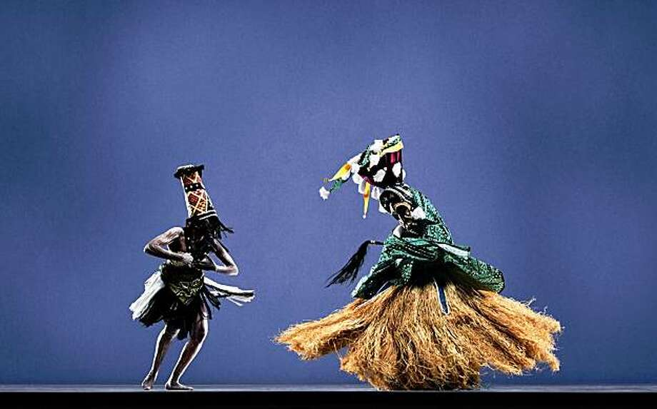 """Diamano Coura dancers perform in """"The Breaking of the Sande Bush,"""" a performance earlier this year. Photo: Diamano Coura West African Dance"""