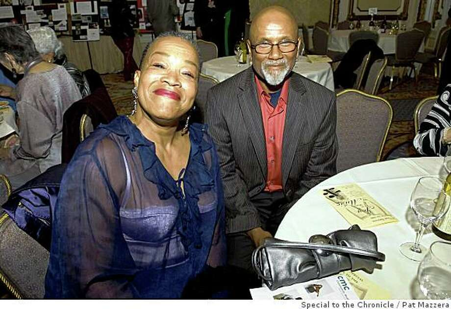 "Community Music Center�s annual fundraiser, �A Salute to the Joy of Making Music�  was held in the San Francisco Fairmont Hotel�s Venetian Room.Rhodessa Jones, Actress and Co-artistic Director of ""Cultural Odyssey""; Lester Jones, Actor Photo: Pat Mazzera, Special To The Chronicle"