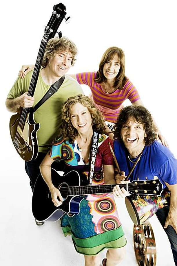 Laurie Berkner and her band will perform Nov. 27 at the Paramount Theatre in Oakland. Left to right on top are Adam Bernstein and Susie Lampert.  Left to right on bottom: Laurie Berkner and Bob Golden. Photo: Steve Vaccariello