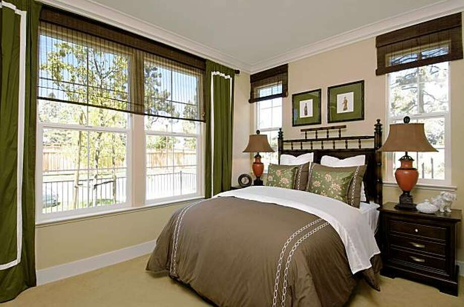 One of the bedrooms from a Plan D home in the Cedarbrook housing development. When the development is complete there will be four floor plans offered; the Dogwood, Plan D, is the largest floor plan with two stories and 2,368 square feet. Photo: Kevin Berne