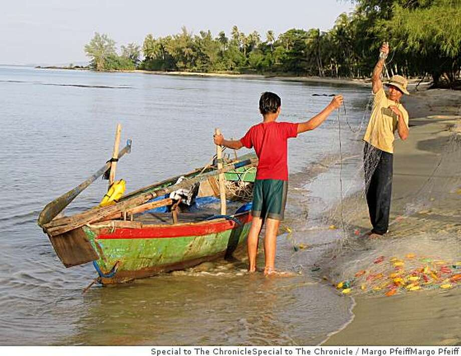 Fishermen on Ong Lang Beach, Pho Quoc island, Vietnam. Photo: Margo Pfeiff, Special To The Chronicle
