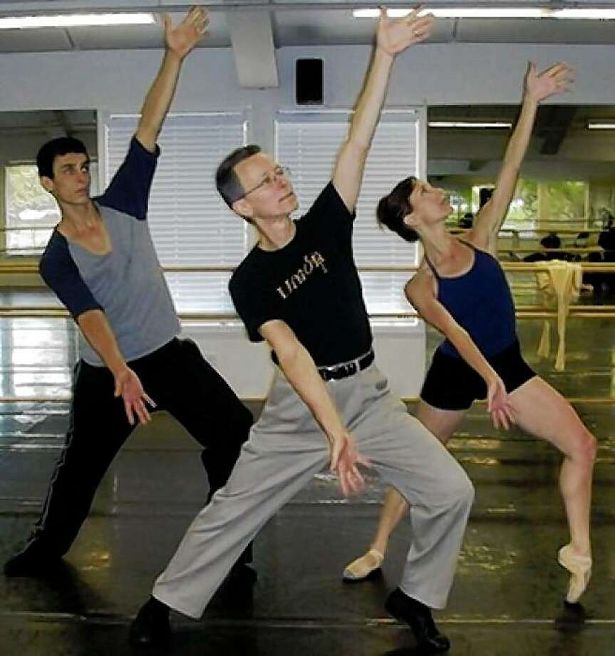 Gary  Masters in rehearsal with Erika Johnson and David Fonnegra Photo: Courtesy Of Diablo Ballet