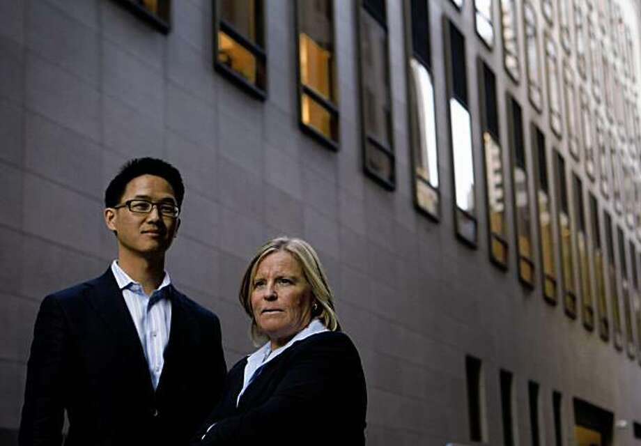 Ben Choi and Amy Errett, with Venture Capital firm Maveron, stand for a portrait new their downtown offices on Friday Nov. 11, 2009 in San Francisco, Calif. Photo: Mike Kepka, The Chronicle