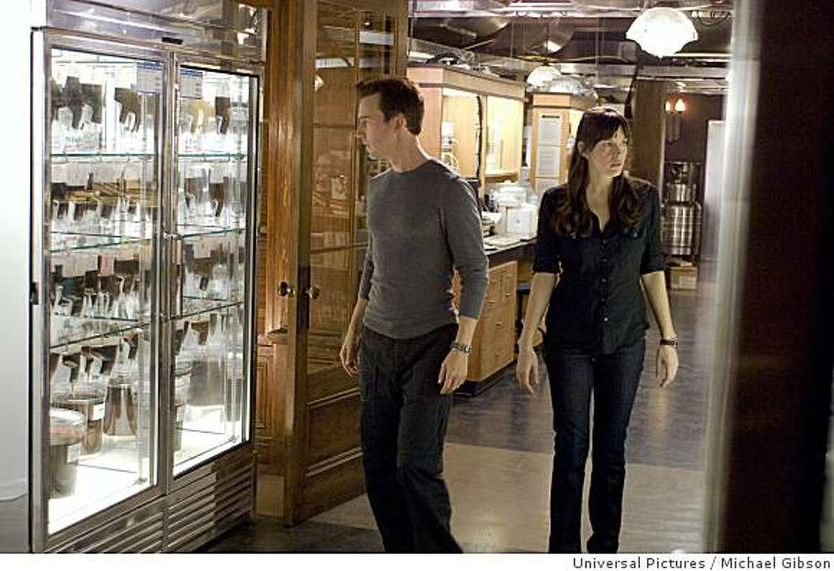 Dr. Bruce Banner (EDWARD NORTON) explores the lab with Dr. Betty Ross (LIV TYLER) in an all-new, explosive and action-packed epic of one of the most popular Super Heroes of all time?THE INCREDIBLE HULK. Credit: Michael Gibson