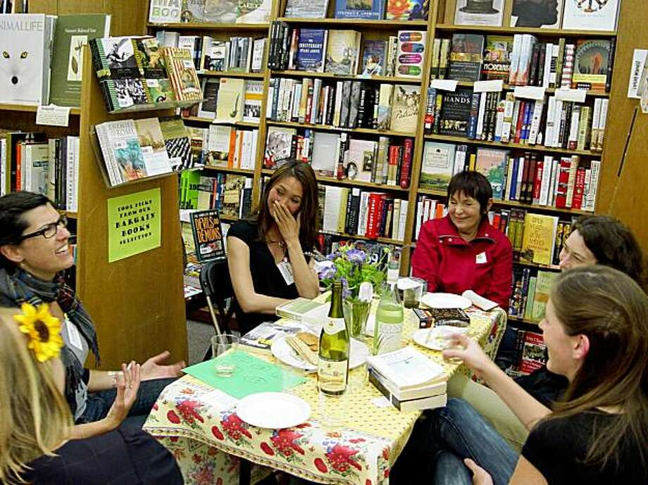 Book lovers wine, dine and opine at the Booksmith. Photo: Booksmith