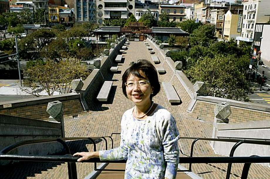 Former San Francisco Supervisor and Assessor Mabel Teng stands at the top of the footbridge to China Town from the Chinese Cultural Foundation that she now heads. Sept 23, 2009 Photo: Lance Iversen, The Chronicle