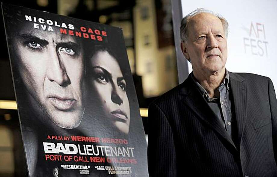"Werner Herzog, director/screenwriter of ""The Bad Lieutenant: Port of Call New Orleans,"" poses at the premiere of the film at AFI Fest 2009 in Los Angeles, Wednesday, Nov. 4, 2009. (AP Photo/Chris Pizzello) Photo: Chris Pizzello, AP"