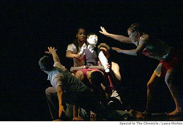 The Joe Goode Performance Group performs Wonderboy, a new dance theater work that incorporates puppetry, during a dress rehearsal at the Yerba Buena Center for the Arts in San Francisco, Calif., on Thursday, June 5, 2008. Photo: Laura Morton, Special To The Chronicle