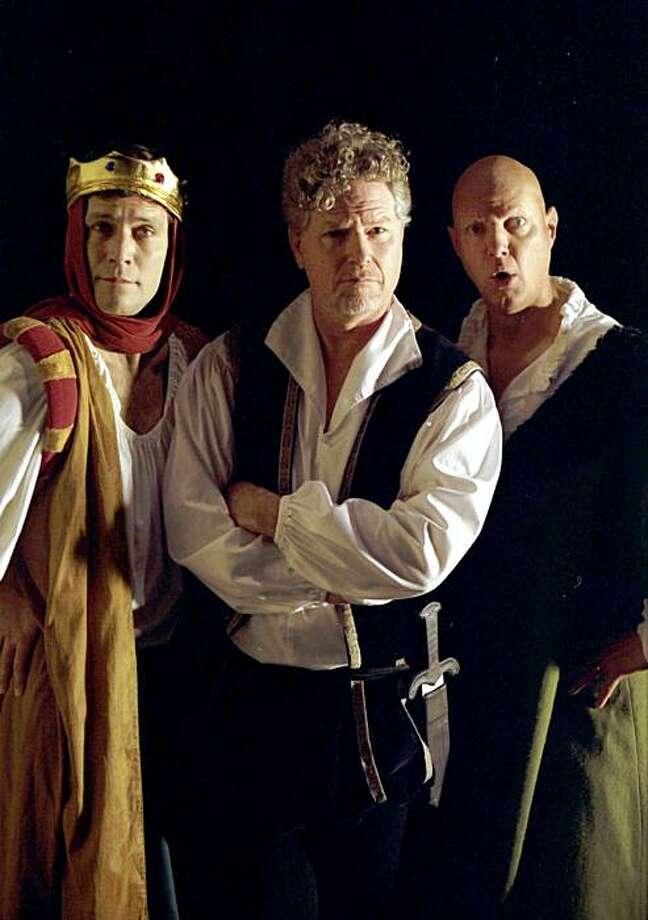 Matt Rippy, Austin Tichenor, and Reed Martin of the Reduced Shakespeare Co. Photo: Daniel Coston