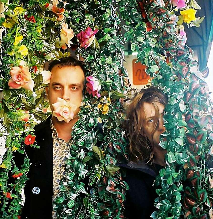 "Flower Power: Chet ""JR"" White (l) and Christopher Owens (r) of the San Francisco indie-rock band Girls. Photo: Sandy Kim"