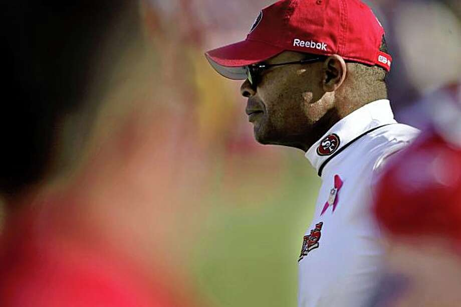 49ers coach Mike Singletary watches from the sidelines in the fourth quarter of San Francisco's game against the St. Louis Rams at Candlestick Park in San Francisco on Sunday. Photo: Carlos Avila Gonzalez, The Chronicle