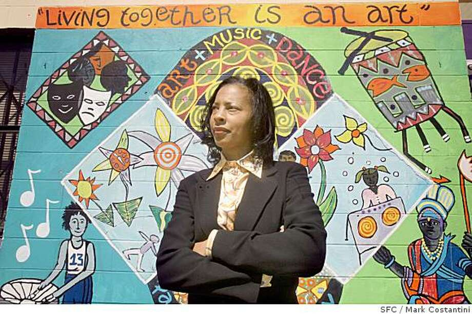 A Jefferson Award Profile of Regina Jackson, who has served as the Executive Director of the East Oakland Youth Development Center for 15 years poses at the center in Oakland , Calif. on May 26, 2008.  Photo by Mark Costantini  /  San Francisco Chronicle. Photo: Mark Costantini, SFC