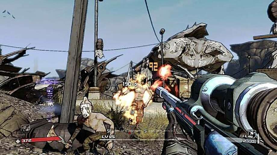 A screenshot of 2K Games' action role-playing game, Borderlands. Photo: 2k Games