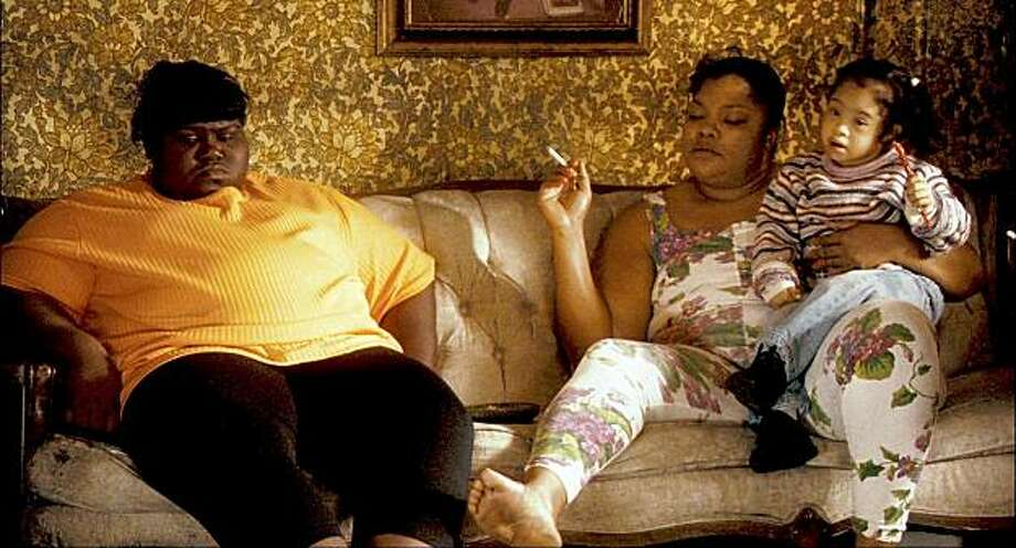 Precious (Gabourey Sidibe, left) and Mary (Mo'Nique, right) in PRECIOUS: BASED ON THE NOVEL 'PUSH' BY SAPPHIRE. Photo: Lionsgate