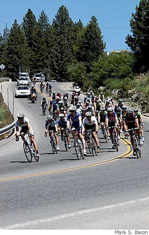 The Tour de Nez bicycle race at Northstar in Tahoe. Photo: Mark S. Bacon