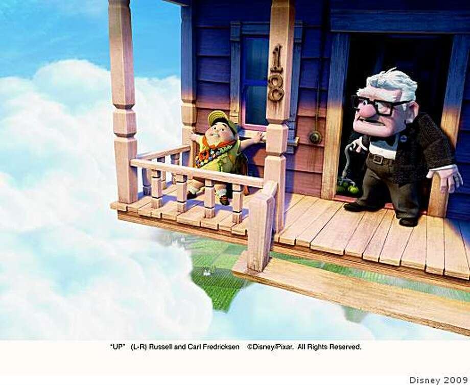"Russell (left) and Carl Fredricksen in ""Up.""""UP""(L-R) Russell and Carl Fredricksen �Disney/Pixar.  All Rights Reserved. Photo: Disney 2009"