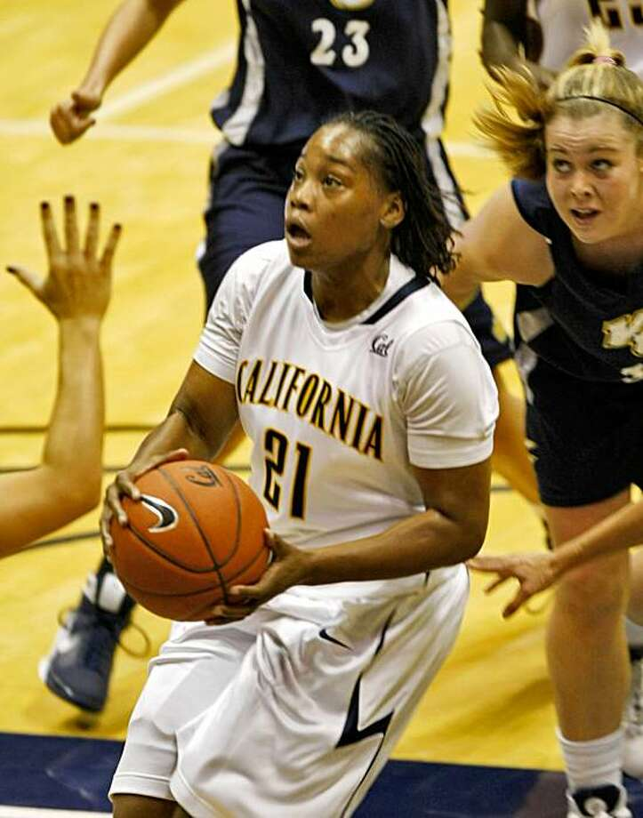 UC Berkeley Alexis Gray-Lawson shoots a basket during aan exhibition game against  Vanguard College, Tuesday Nov. 3, 2009, in Berkeley, Calif. Photo: Lacy Atkins, The Chronicle