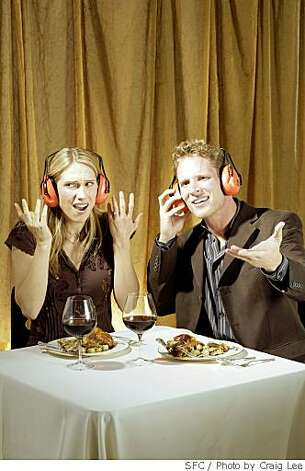 Photo illustration on noise in restaurants, in San Francisco, Calif., on May 22, 2008. Photo by Craig Lee / The San Francisco Chronicle Photo: Photo By Craig Lee, SFC