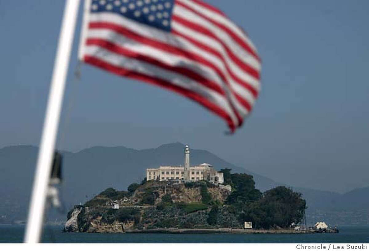 alcatraz_0178_ls.JPG A view of Alcatraz from the back of the ferry. Stan Cordes has been a volunteer guide and history guide on Alcatraz for 20 years. On June 11 he was recognized for his 20 years of volunteer service with a little ceremony. Photo taken on 061107 in San Francisco, CA. Photo by Lea Suzuki/ The Chronicle (Stan Cordes)cq MANDATORY CREDIT FOR PHOTOG AND SF CHRONICLE/NO SALES-MAGS OUT.
