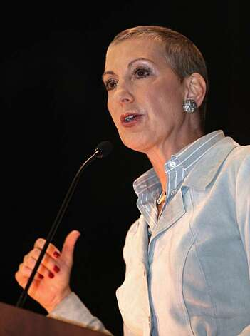 Former Hewlett-Packard CEO Carly Fiorina, a candidate for the Republican nomination for the U.S. Senate, speaks at the North State Building Industry Association conference in Sacramento, Calif. on Thursday, Nov. 5, 2009. Fiorina, who announced her candidacy Wednesday,  is making a bid to unseat Democratic U.S. Sen. Barabara Boxer. (AP Photo/Rich Pedroncelli) Photo: Rich Pedroncelli, AP