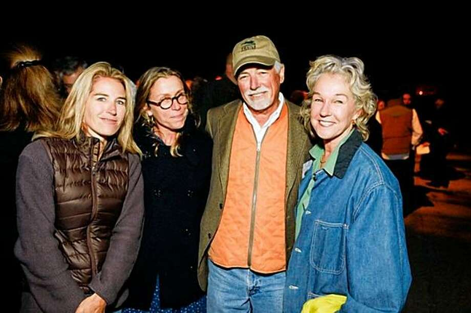 CQ:D Summer Tompkins Walker, Frances McDormand, Mark Buell and Susie Tompkins Buell at the Trails Forever fundraiser for the Golden Gate National Parks Conservancy on Oct. 2 at Fort Point in the Presidio, San Francisco. Photo: Drew Altizer