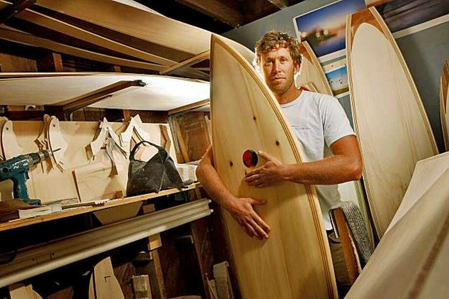 Danny Hess, maker of Hess Surfboards in his workshop, Monday Sept.21, 2009,  in San Francisco, Calif. Photo: Lacy Atkins, The Chronicle