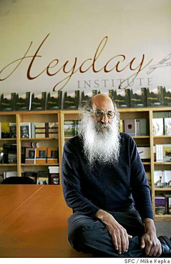 Malcolm Margolin, owner of Heyday Books in Berkeley, Calif., poses for a portrait in the downtown Berkeley office on Monday May 19, 2008 in San Francisco, Calif. Photo by Mike Kepka / San Francisco Chronicle Photo: Mike Kepka, SFC