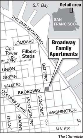 Broadway Family Apartments. Chronicle Graphic