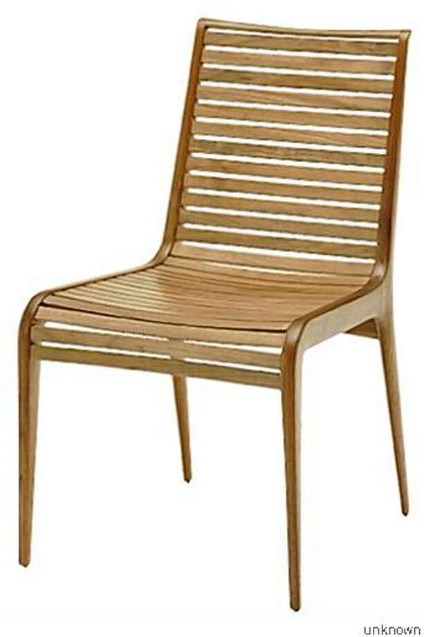 Slatted chair from McGuire's Kitchen collection, $990 in oak; $1,250 in walnut Photo: Unknown