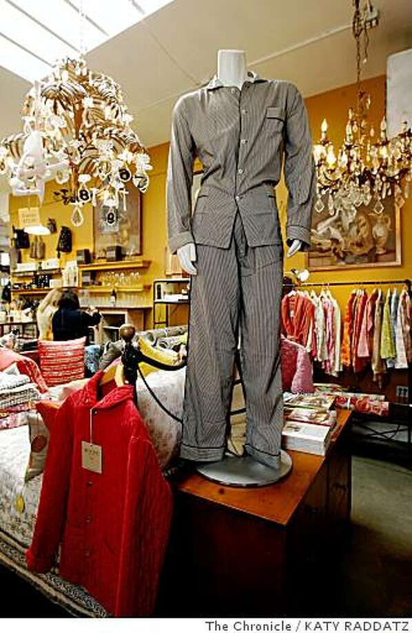 A mannequin in dashing French pajamas in a corner of Maison d'Etre, on College Ave.  in Oakland, Calif.  on Thursday May 29, 2008. Photo: KATY RADDATZ, The Chronicle