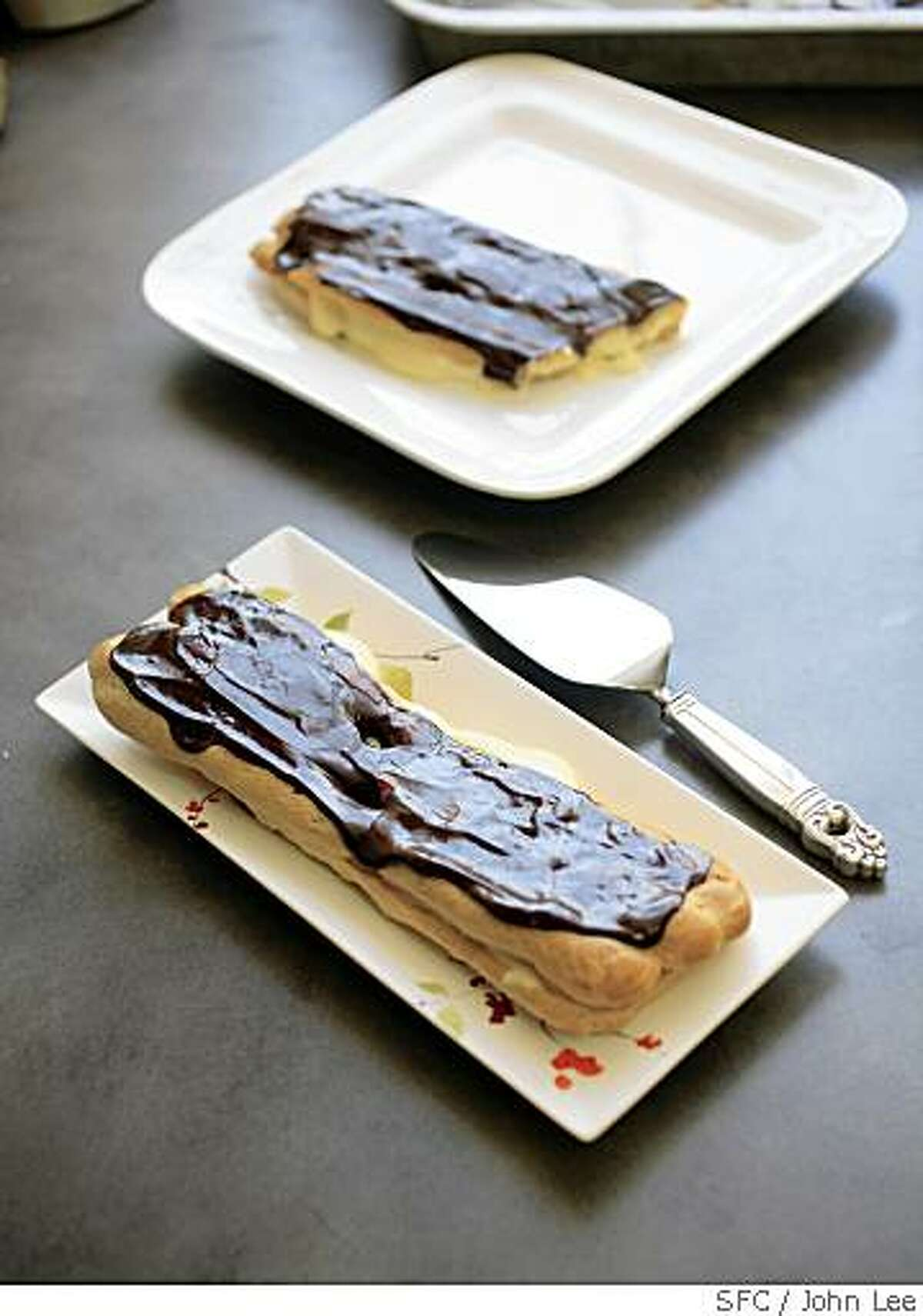 BAKER14_06_JOHNLEE.JPG May 8, 2008 - King size eclairs.BY JOHN LEE, SPECIAL TO THE CHRONICLE