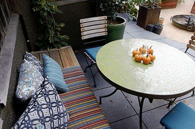 Landscape designer, Bernadro Lopez designed this seating area at Michael Pollan's home on Tuesday, Oct. 27, 2009 in Berkeley, Calif. Photo: Mike Kepka, The Chronicle