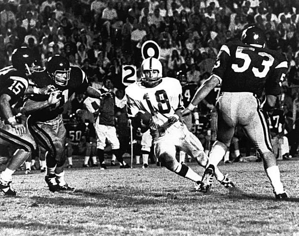 Stanford wide receiver Randy Vataha plays against USC on October 11, 1969 in Los Angeles, Calif. In 1969, Stanford had the makings of a team hat would win two Rose Bowls. Those bowl wins, however, came after the next two seasons. The 1969 season was one of heartbreak and missed opportunities. In those days there were only four bowl games, so the 1969 team had no postseason at all, despite going 7-2-1 and finishing 19th in the Associated Press poll.