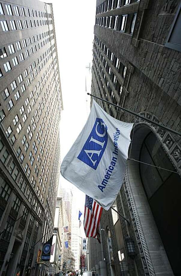 FILE - In this March 17, 2009 file photo, an AIG office building is shown in New York. AIG said Friday, Nov. 6, 2009, it was profitable for the second straight quarter as its core insurance operations continue to stabilize after being bailed out by the government last year. (AP Photo/Mark Lennihan, file) Photo: Mark Lennihan, AP
