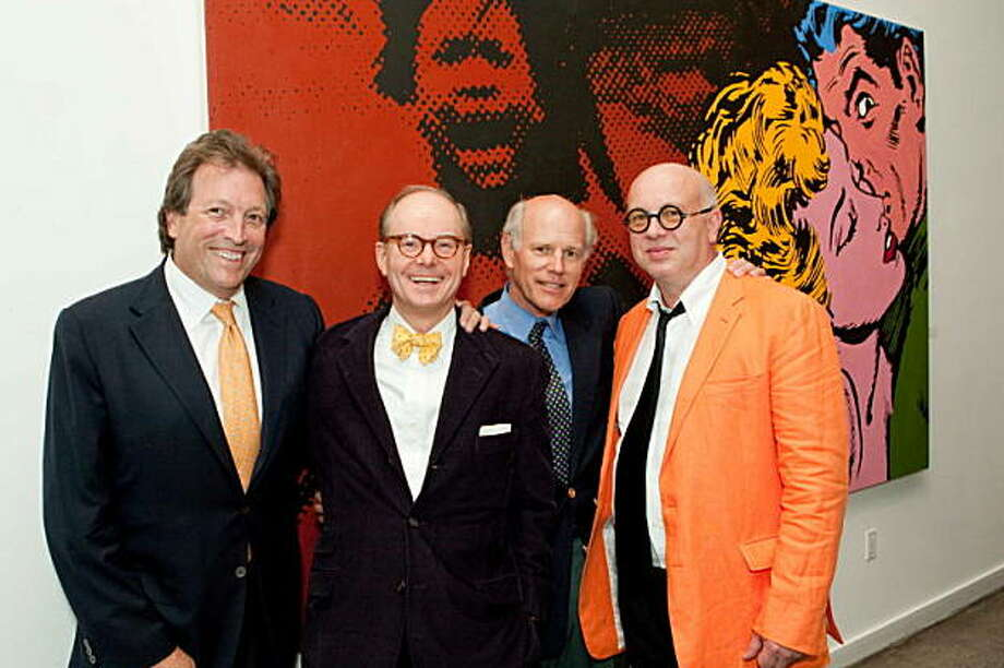 Swiss-born Martin Muller, the first to show Russian avant-garde art outside New York and the first to bring Andy Warhol's works to the West Coast, celebrated his 30th year in San Francisco on Sept. 10, 2009 at a dinner at Foreign Cinema restaurant. From left to right:  Doug Biederbeck, Martin Muller, Barnaby Conrad III, Valentin Popov Photo: Drew Altizer Photography Heather