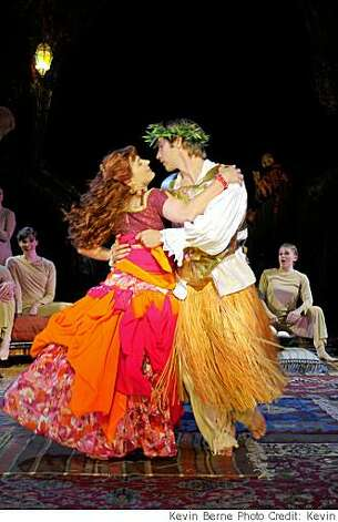 "Delia MacDougall as Thaisa dances with Christopher Kelly as Pericles in California Shakespeare Theater's production of ""Pericles""Delia McDougall as Thaisa and Christopher Kelly as Pericles Photo: Kevin Berne Photo Credit: Kevin"