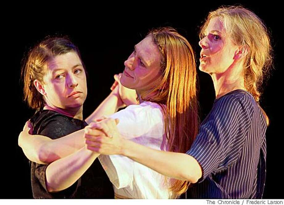 """Tilla Kratochwil (left), Sommer Ulrickson (center) and Beth Wilmurt (right) perform """"Yes, Yes to Moscow at the Dance Mission Theatre on Mission Street in San Francisco on May 29, 2008.5/29/08 Photo: Frederic Larson, The Chronicle"""